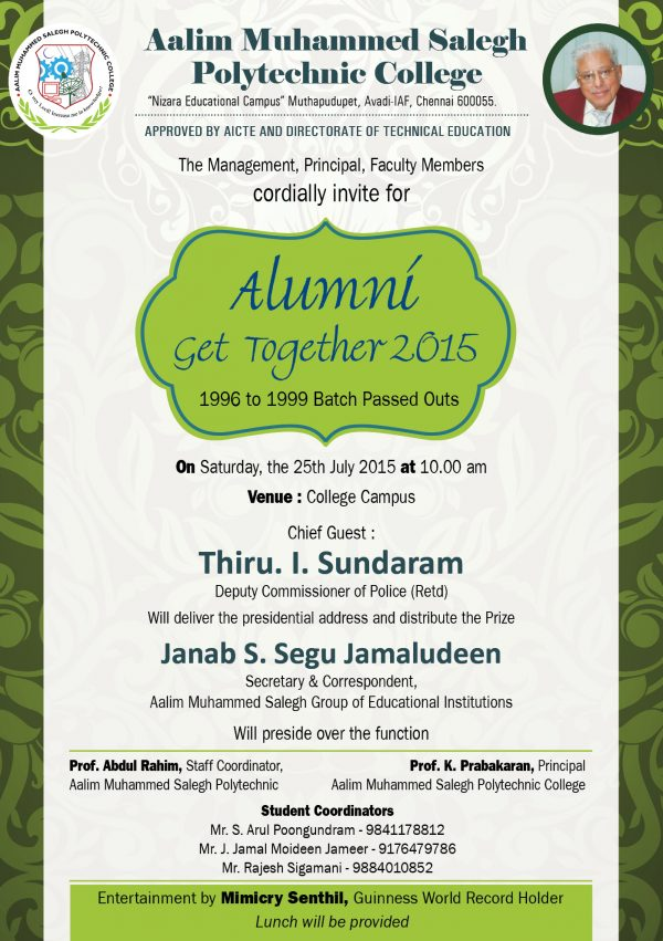 Alumni Get Together 2015