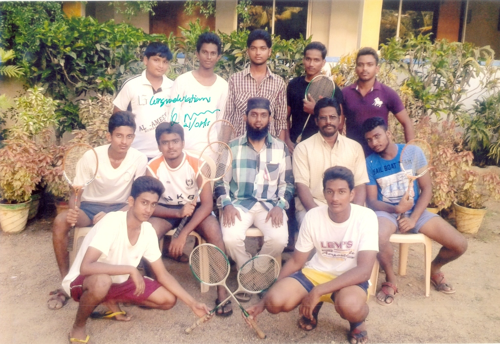 OUR COLLEGE BALL BADMINTON TEAM